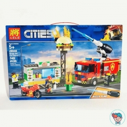 "Конструктор Lele Cities 28048 ""Пожар в бургер-кафе"" (Аналог Lego City 60214) 349 деталей"