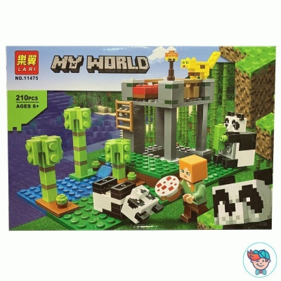 Конструктор Lari My World 11475 Питомник панд (Аналог Lego Minecraft 21158) 210 деталей