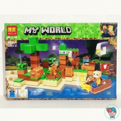 Конструктор Bela My World 11132 На рыбалке (Аналог Lego Minecraft) 183 деталей