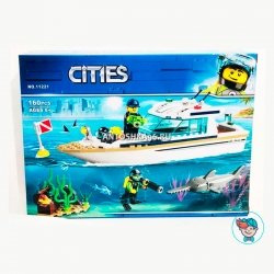 Конструктор Lari Cities 11221 Яхта для дайвинга (Аналог Lego City 60221) 160 деталей