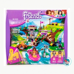 Конструктор Bela Friend 10493 Спортивный лагерь: сплав по реке (Аналог Lego Friends 41121) 325 деталей