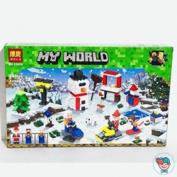 Конструктор Bela My World 11029 Зимние игры (Аналог Lego Minecraft) 239 деталей