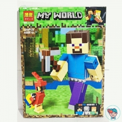 Конструктор Bela My World 11166 Стив с попугаем (Аналог Lego Minecraft 21148) 159 деталей