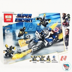 Конструктор Lepin Super Escort 07119 Капитан Америка: Атака Аутрайдеров (Аналог Lego Super Heroes 76123) 188 деталей