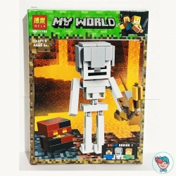 Конструктор Bela My World 11168 Скелет с кубом магмы (Аналог Lego Minecraft 21150) 142 деталей