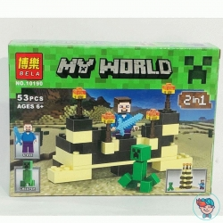 Конструктор Bela My World 10190 Стив и крипер 53 деталей