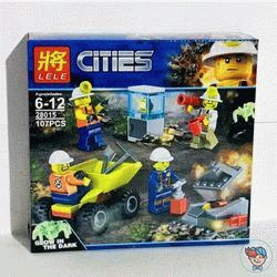Конструктор Lele Cities 28015 Бригада шахтеров (Аналог Lego City 60184) 112 деталей
