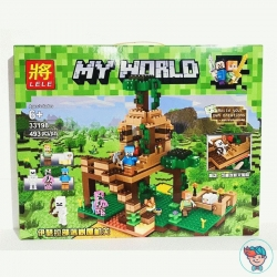 Конструктор Lele My World 33198 Штаб в лесу 493 деталей