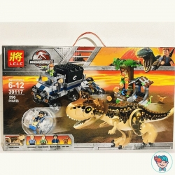 Конструктор Lele Dinosaur World 39117 Побег в гиросфере от карнотавра (Аналог Lego Juniors Jurassic World 75929) 596 деталей